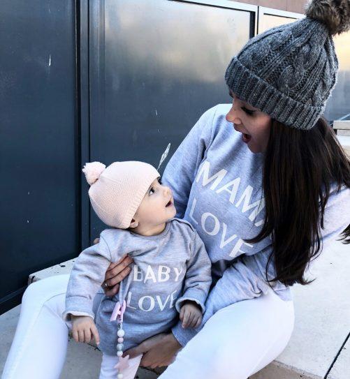 SUDADERAS MAMA LOVE + BABY LOVE