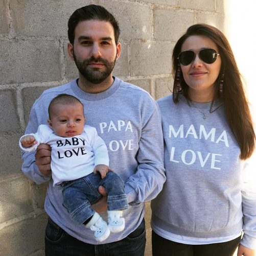 PACK SUDADERA MAMA LOVE + BABY LOVE